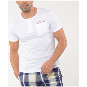 Vêtements Homme T-shirts manches courtes Kaporal T-Shirt Homme ZIMBO Blanc Blanc