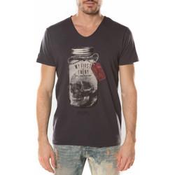 Vêtements Homme T-shirts manches courtes Deeluxe T Shirt Homme Expert Noir Noir