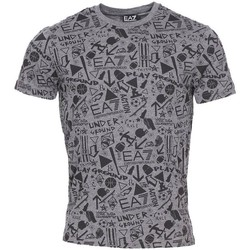 Vêtements Homme T-shirts manches courtes Emporio Armani EA7 Train Graphic Series M Tee Co 11 Gris