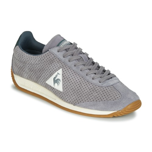 Le Coq Sportif QUARTZ PERFORATED NUBUCK Gris - Chaussures Baskets basses Homme