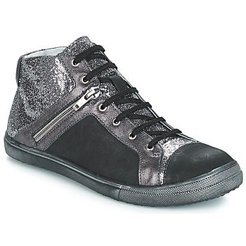 Chaussures Fille Bottes ville GBB KAMI VTS NOIR-ARGENT DPF/BASKET
