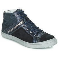 Chaussures Fille Baskets montantes GBB KAMI Noir / Bleu