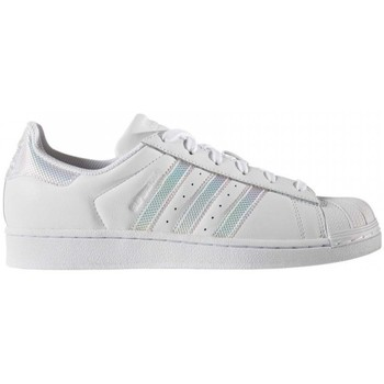 Chaussures Femme Baskets basses adidas Originals superstar Blanc-pailletes