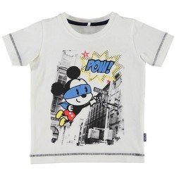 Vêtements Garçon T-shirts manches courtes Name It Kids T-shirt  Nitfolkeson Blanc (sp)