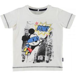 Vêtements Garçon T-shirts manches courtes Name It Kids T-shirt  Nitfolkeson Blanc (sp)