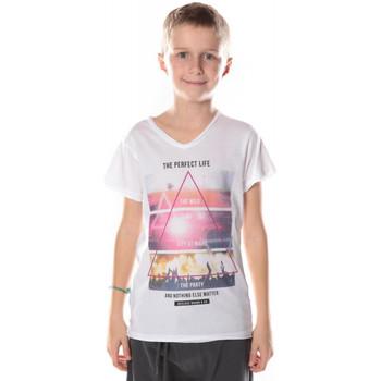 Vêtements Garçon T-shirts manches courtes Deeluxe T-Shirt Enfant  Perfect blanc (sp)