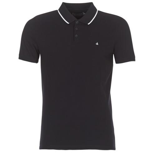Vêtements Homme Polos manches courtes Calvin Klein Jeans PAUL 2 SLIM Noir