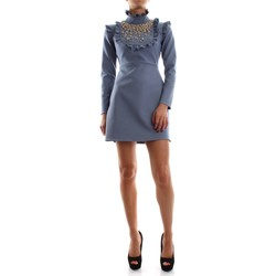 Vêtements Femme Robes courtes Elisabetta Franchi AB18578E2 ROBE Femme SMOKY BLUE SMOKY BLUE