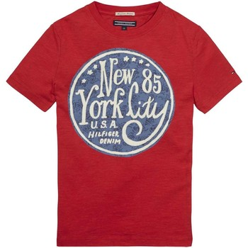 Vêtements Enfant T-shirts manches courtes Tommy Hilfiger E557129182 ROSLIN T-SHIRT Enfant LOLLIPOP LOLLIPOP