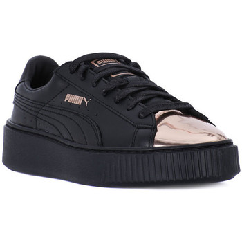Chaussures Femme Baskets basses Puma BASKET PLATFORM METALLIC Nero
