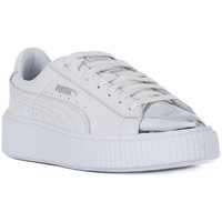 Chaussures Femme Baskets basses Puma BASKET PLATFORM METALLIC Bianco