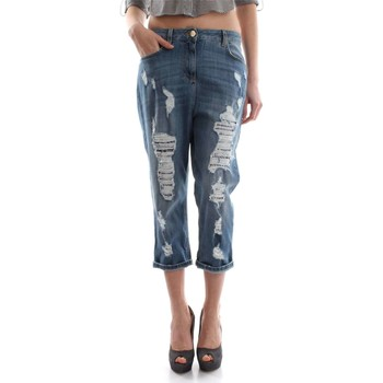 Vêtements Femme Jeans 3/4 & 7/8 Elisabetta Franchi PJ6022502 JEANS Femme DENIM LIGHT BLUE DENIM LIGHT BLUE