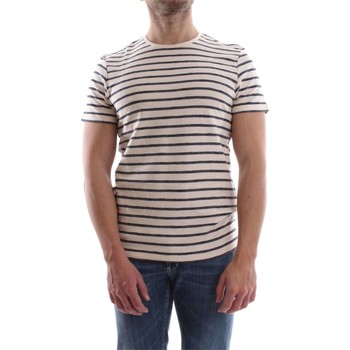 Vêtements Homme T-shirts manches courtes Selected 16055294 STRIPED T-SHIRT Homme DARK SAPPHIRE DARK SAPPHIRE