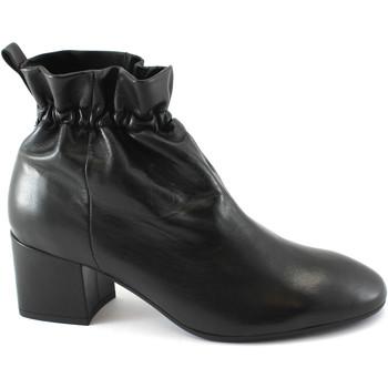 Chaussures Femme Bottines Les Venues LES LIEUX 6555 Prise chaussures à talons noires peau élastique r Nero