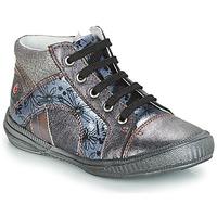 Chaussures Fille Boots GBB ROSETTA VNV GRIS BLEU-IMPRIME DPF/SABINA
