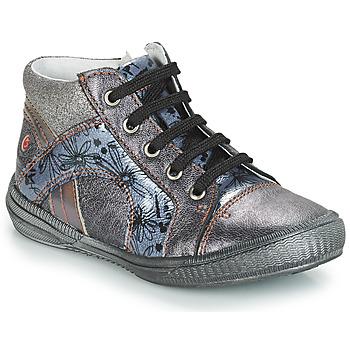 Chaussures Fille Baskets montantes GBB ROSETTA Gris / Bleu