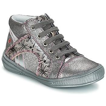 Chaussures Fille Boots GBB ROSETTA Argenté