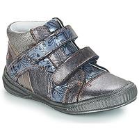 Chaussures Fille Boots GBB ROXANE Gris / Bleu