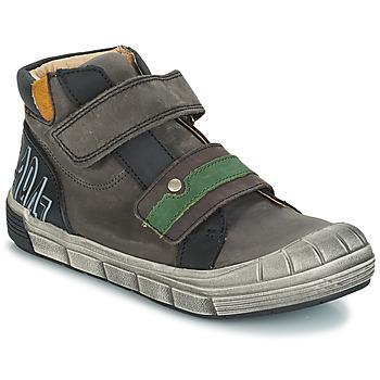 Chaussures Garçon Boots GBB REMI NUV GRIS-NOIR DPF/2831