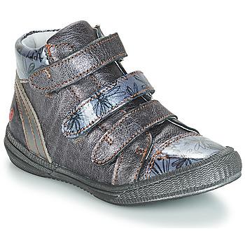 Chaussures Fille Boots GBB RAFAELE Bleu / Gris