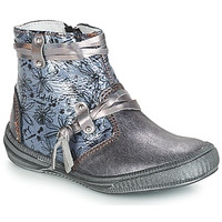 Chaussures Fille Bottes ville GBB REVA VNV GRIS BLEU-IMPRIME DPF/SABINA