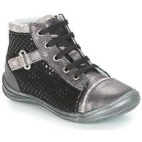 Chaussures Fille Boots GBB ROMIE Noir / Gris