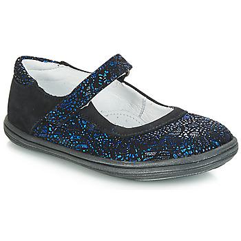 Chaussures Fille Ballerines / babies GBB PLACIDA Bleu / Noir