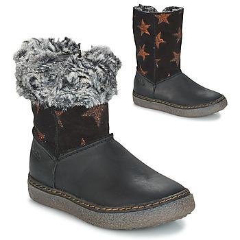Chaussures Fille Bottes ville GBB DUBROVNIK Noir / Gris