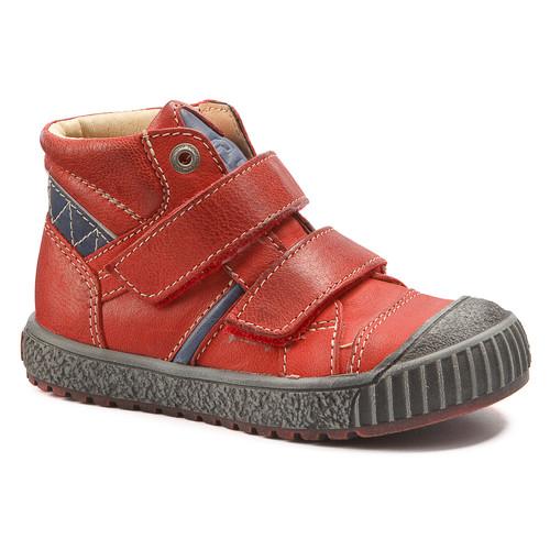 Chaussures Garçon Baskets montantes Catimini RAIFORT VTE ROUGE-MARINE DCH/LINUX