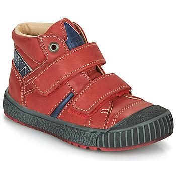 Chaussures Garçon Boots Catimini RAIFORT VTE ROUGE-MARINE DPF/LINUX
