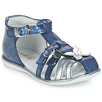Chaussures Fille Sandales et Nu-pieds GBB SHANICE VVN BLEU-IMPRIME DPF/RENSA