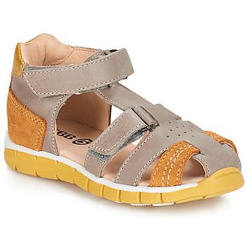 Chaussures Garçon Sandales et Nu-pieds GBB SPARTACO VTC TAUPE-FAUVE DPF/LIVE
