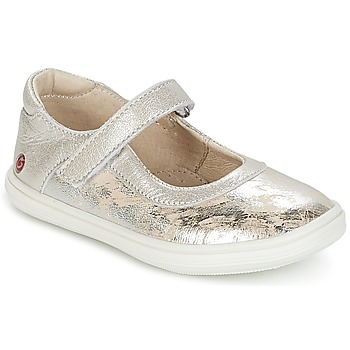 Chaussures Fille Ballerines / babies GBB PLACIDA Beige / Argent