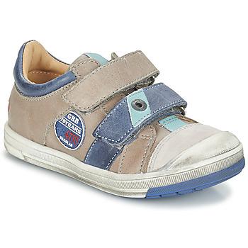 Chaussures Garçon Boots GBB SERGE VTC TAUPE-BLEU DPF/FLASH