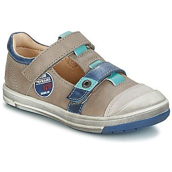 Chaussures Garçon Boots GBB SCOTT VTC TAUPE-BLEU DPF/FLASH