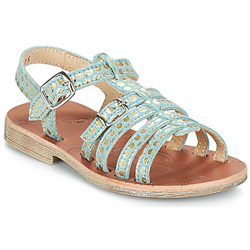 Chaussures Fille Sandales et Nu-pieds GBB BANGKOK VTE BLEU-POIS OR DPF/COCA