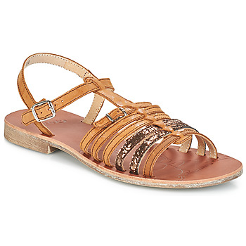 Chaussures Fille Sandales et Nu-pieds GBB BANGKOK VTS MARRON-PAILLETTE DPF/COCA