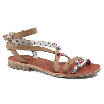 Chaussures Fille Sandales et Nu-pieds Catimini SAPHIR VTE MARRON-TURQUOISE DPF/COCA