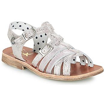 Chaussures Fille Sandales et Nu-pieds Catimini SAULE Argent / Rose