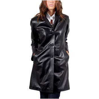 Vêtements Vestes en cuir / synthétiques Giorgio Barbara WAXY Noir Noir