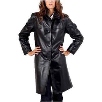 Vêtements Vestes en cuir / synthétiques Giorgio Fabiola Noir Noir