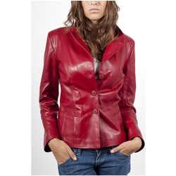 Vêtements Vestes en cuir / synthétiques Giorgio Irene Waxy Rouge Rouge