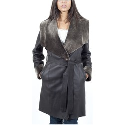 Vêtements Vestes en cuir / synthétiques Giorgio Naomi THR Marron Marron