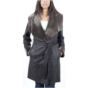 Vêtements Vestes en cuir / synthétiques Giorgio Naomi Marron Marron