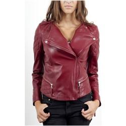 Vêtements Vestes en cuir / synthétiques Giorgio Sherry Rouge Rouge