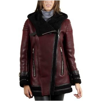 Vêtements Vestes en cuir / synthétiques Giorgio Victoria Rouge / Noir Rouge et Noir