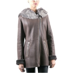 Vêtements Vestes en cuir / synthétiques Giorgio Valeria SOFT Taupe Taupe