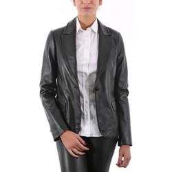 Vêtements Vestes en cuir / synthétiques Giorgio Shirley CLOU Noir Noir