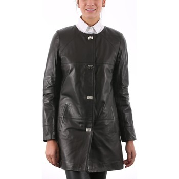 Vêtements Vestes en cuir / synthétiques Giorgio Sonia Agora Noir Noir
