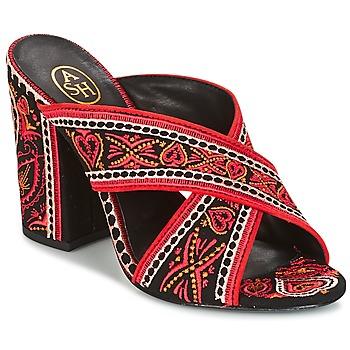 Chaussures Femme Sandales et Nu-pieds Ash LOLA Noir/ rouge